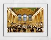 Grand Central Station Print, New York Photography Print, New York Poster, New York Print, Living Room Wall Print, New York Photography,