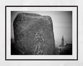 Glasgow Sighthill Stone Circle Print, Glasgow Photography, Glasgow University Print, Glasgow Scotland, Pagan Poster, Pagan Wall Art, Decor