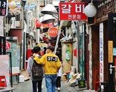 Seoul Print, Korean Restaurant Photos, Seoul Photography, Korea Gallery Wall, Gallery Wall Prints, Korea Gift, Seoul Gift, Ikseondong Seoul