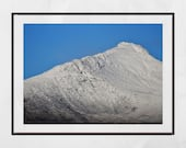 Mountain Photography, Landscape Photography, Snow Capped Mountain, Isle of Arran Photography, Goatfell Arran, Scotland Photography, Decor