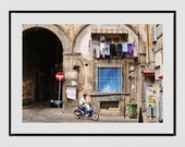Naples Italy Photography Print, Street Photography, Italy Photography, Naples Photography, Naples Poster, Europe Photography, Moped Print