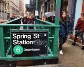 New York Subway Print, Spring Street New York, Soho New York, New York Photography Print, New York Poster, New York Gift, New York Print