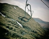 Ski Art, Ski Lift Print, Ski Print, Glencoe Print, Scotland Print, Ski Lift Photo, Glencoe Photo, Scotland Photo, Ski Lift Wall Art