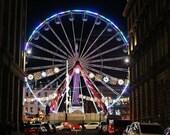 George Square Glasgow Christmas Ferris Wheel Photography Print