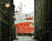 Aberdeen Harbour Ship Photography Print