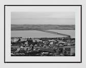 Dundee Photography Print, Tay Bridge Dundee, Dundee Poster, River Tay, Dundee Print, Dundee Scotland, Dundee Gift, Tay Rail Bridge, Decor
