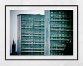 Glasgow Photography Print, Glasgow University Picture, Glasgow Print, High Rise Flats, Brutalist Architecture, Brutalism Poster, Skyline