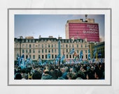 Scottish Independence Poster, George Square Glasgow, Yes Scotland Poster, Scotland Gift, Scottish Independence Gift, People Make Glasgow