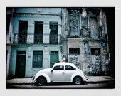 Vintage Beetle Print, Beetle Car, Salvador de Bahia Poster, Salvador Bahia Photo, Salvador Brazil Photo, Home Decor Wall Art, Wall Print
