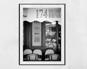 Paris Cafe Print, Paris Cafe Poster, Paris Street Print, Paris Bistro, Montparnasse Paris, Paris Photography Print, Paris Photography, Gift