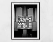 Charles Rennie Mackintosh Glasgow School Of Art Black And White Print