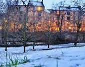 Glasgow Tenements In Winter Photography Print