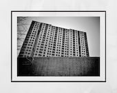 Brutalist Photography, Brutalism Print, Derelict Building Photography, Abandoned Photography, Sighthill Glasgow Photography Print, Wall Art