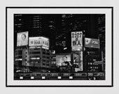 Tokyo Photography, Tokyo Print, Shinjuku Tokyo, City Photography, Tokyo Poster, Japan Photography, Tokyo Wall Art, Japanese Restaurant Decor