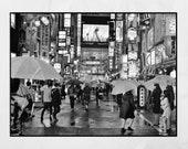 Tokyo Poster, Tokyo In The Rain, Shinjuku Poster, Tokyo Photography Print, Tokyo Print, Tokyo Wall Art, Tokyo Gift, Japan Photography, Decor