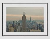 New York Skyline Print, Empire State Building Print, New York Photography Print, New York Poster, New York Gift, New York Print, Wall Decor