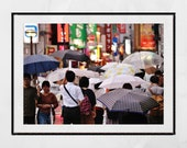 Tokyo In The Rain Picture, Tokyo Photography, Tokyo Poster, Kichijōji Tokyo, Japan Photography, City Photography, Living Room Wall Print