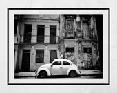 Beetle Car, Vintage Beetle Print, Salvador de Bahia Poster, Salvador Bahia Photo, Salvador Brazil Photo, Home Decor Wall Art, Wall Print