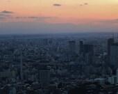 Tokyo Skyline Print, Tokyo Sunset Skyline Print, Mount Fuji View Tokyo, Mount Fuji Tokyo Poster, Mount Fuji Tokyo Photography Print, Decor