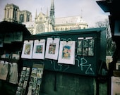 Paris Booksellers Photography Print Bouquinistes Notre Dame Poster