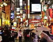 Picture of Tokyo, Shinjuku Tokyo, City Photography, Tokyo Photography, Tokyo Poster, Gallery Wall Prints, Japanese Restaurant Photography,