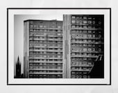 Glasgow University Photography Brutalism Poster