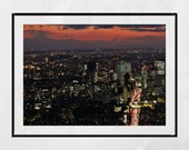 Tokyo Night Photography, Tokyo Skyline, Tokyo Print, Tokyo Photography Print, City Photography, City Print, Home Decor Wall Art, Wall Print