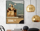 Seoul Photography Poster, Korean Karaoke Sign, Streets of Seoul Prints