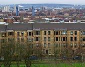 Glasgow Scotland, Glasgow Print, Glasgow Photography, Glasgow Tenement Print, Glasgow Skyline Print, Glasgow View Print, Glasgow Photo