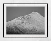 Snow Capped Mountain, Landscape Photography, Mountain Photography, Isle of Arran Photography, Goatfell Arran, Scotland Photography, Decor