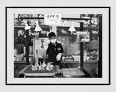 Tokyo Photography, Tsukiji Fish Market Tokyo Photo, Tokyo Print, Seafood Restaurant Decor, Tokyo Poster, Japanese Restaurant Decor, Wall Art