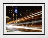 Empire State Building Print, Empire State Building Wall Art, New York Photography Print, New York Poster, New York Print, Living Room Print