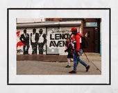 Harlem Photography, Harlem Print, Lenox Avenue, New York Street Photography, New York Photography Print, Harlem Poster, Malcolm X Boulevard
