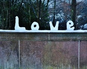 Love In Snow Photography Print