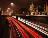 Glasgow Mitchell Library Traffic Photography Print