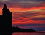 Scotland Photography, Greenan Castle Photo, Scottish Gifts, Scottish Art, Scotland Decor, Scotland Print, Sunset Print, Sunset Photo, Decor