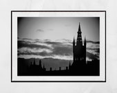 Glasgow University Photography Print, Glasgow University Picture, Glasgow Skyline Print, Pictures Of University Of Glasgow, Glasgow Print