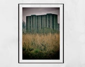 Brutalist Photography, Abandoned Photography, Derelict Building Photography, Sighthill Glasgow Photography Print, Brutalism Print, Scotland