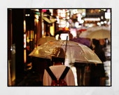 Tokyo In The Rain Picture, City Photography, Tokyo Photography, Tokyo Poster, Living Room Wall Print, Gallery Wall Prints, Home Decor