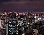 Tokyo Skyline Print, City Skyline Print, Night Skyline Print, Tokyo Poster, Tokyo Photography Print, Tokyo At Night Poster, City Photography
