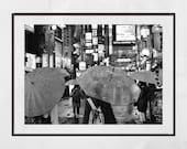 Tokyo In The Rain, Shinjuku Poster, Tokyo Photography Print, Tokyo Poster, Japan Photography, Tokyo Print, Tokyo Wall Art, Tokyo Gift, Decor