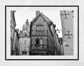 Blois France Photography Print, French Provincial Wall Art, France Photography, Europe Wall Art, Pretty Print, Loire Valley, Gallery Wall