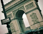 Arc de Triomphe Paris Photography Print Poster