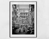 Rome Italy Colosseum Black And White Photography Print