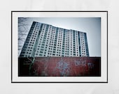 Brutalist Photography, Abandoned Photography, Brutalism Print, Derelict Building Photography, Sighthill Glasgow Photography Print, Scotland