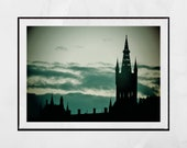 Glasgow University Photography Print, Glasgow Skyline Print, Glasgow University Picture, Pictures Of University Of Glasgow, Glasgow Print