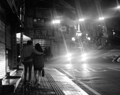 Black and Prints, Black And White Photography, Seoul Photography, Seoul Print, Gallery Wall Prints, Korea Gift, Love Print, Couple Picture