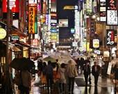 Shinjuku Tokyo, Tokyo Photography, Tokyo Poster, Tokyo Print, City Photography, Tokyo Gallery Wall Prints, Japanese Restaurant Decor, Decor