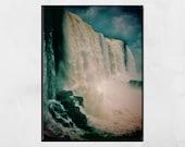 Iguazu Falls Photography Print, Waterfall Print, Waterfall Photography, Iguazu Falls Picture, Nature Photography, Gallery Wall Prints, Gift