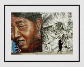 Brooklyn Street Art, Bushwick Brooklyn Print, Street Art Poster, Street Art Print, Street Photography, Urban Photography, Hipster Wall Art